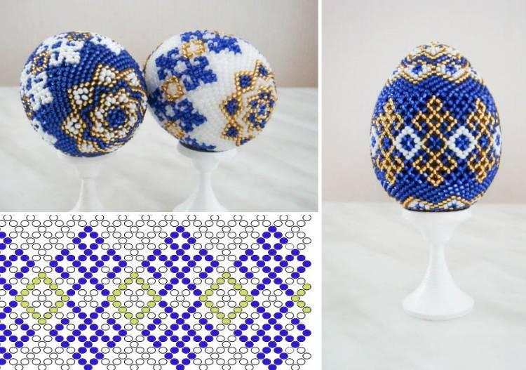 схемы плетения яйца из бисера