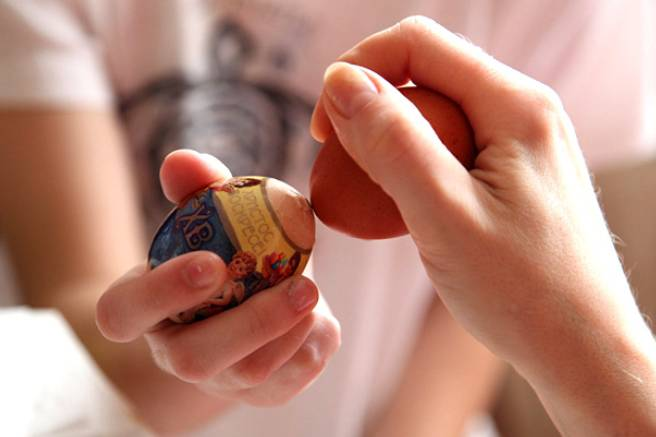 Традиция биться яйцами на пасху