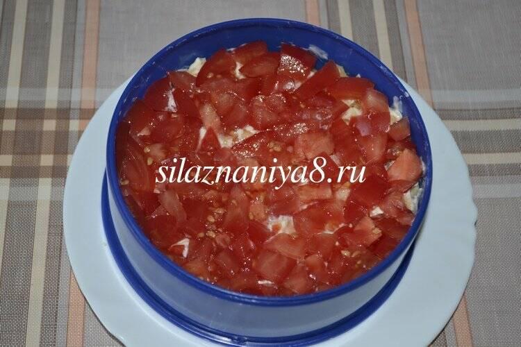 Салат с ананасом курицей сыром помидором