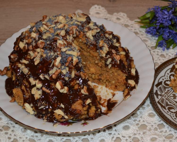 торт из печенья и сгущенки муравейник
