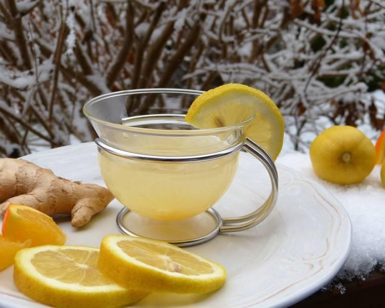 чай для иммунитета с медом имбирем лимоном