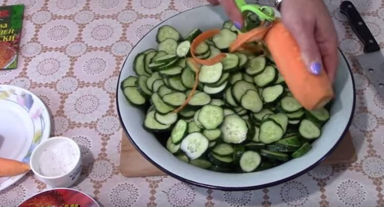 огурцы по-корейски с приправой для моркови