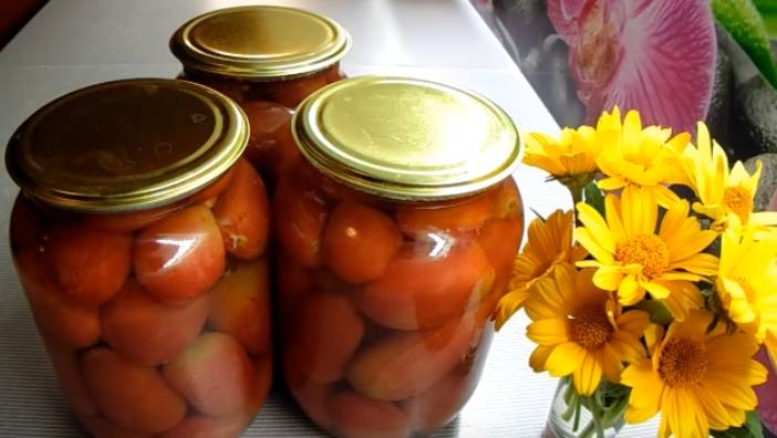 томаты в литровых банках с яблочным уксусом