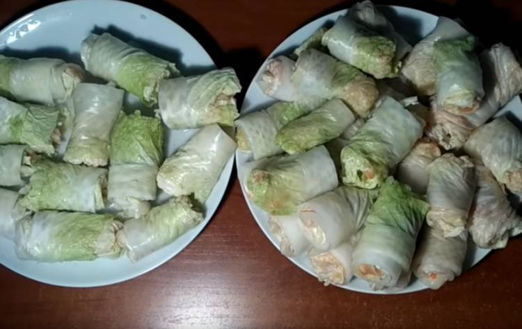 голубцы из пекинской капусты в томатно сметанном соусе в духовке