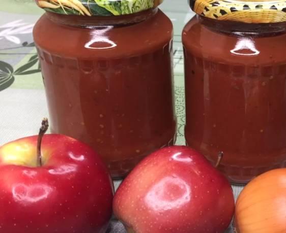 кетчупа из помидор, яблок и лука на зиму