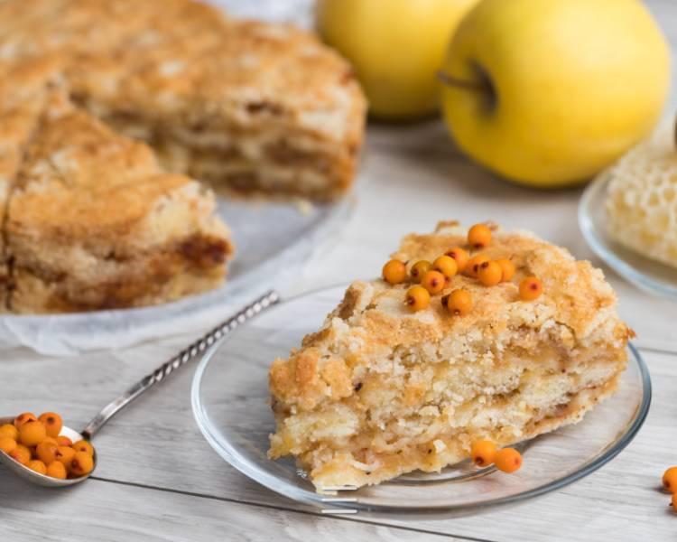 Насыпной яблочный пирог — 5 очень вкусных и простых рецептов