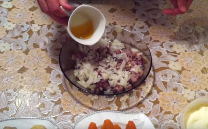 Салат Селедка под шубой с желатином