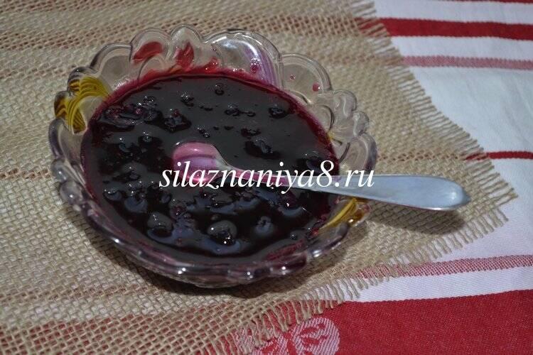 Варенье пятиминутка из черной смородины