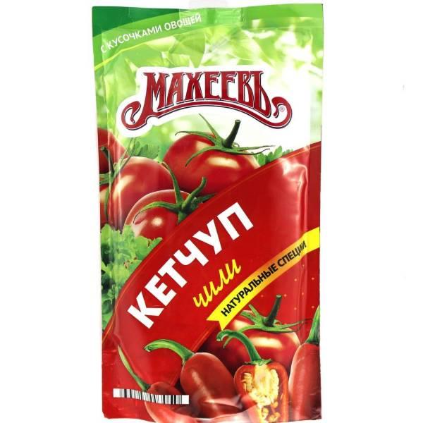 огурцы с кетчупом чили Махеев на зиму в литровых банках