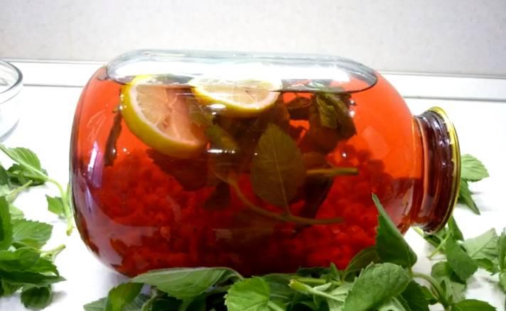 компот из красной смородины с лимоном без стерилизации