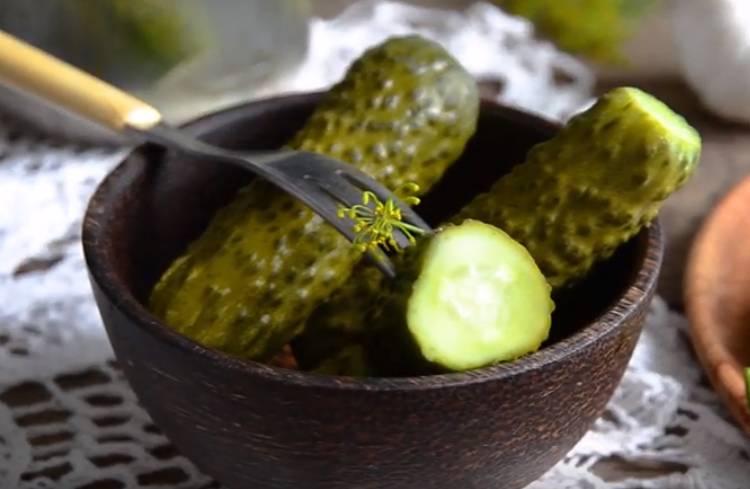 малосольные огурцы в банке вкусные и хрустящие с хреном и горчицей