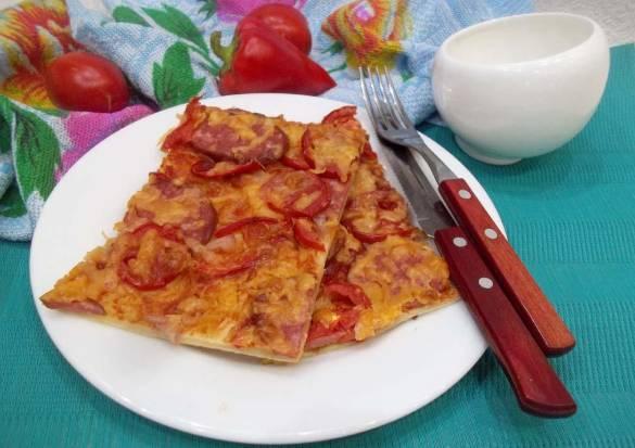 пицца из готового слоеного теста в духовке