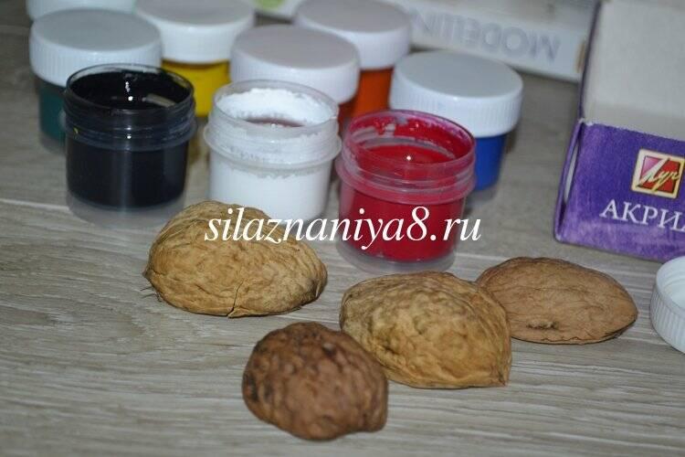 Поделки из ореховой скорлупы