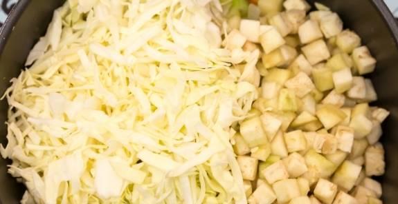 баклажаны с фасолью и капустой на зиму