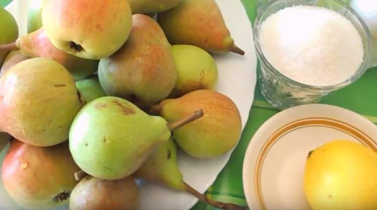 компот из груш с лимоном
