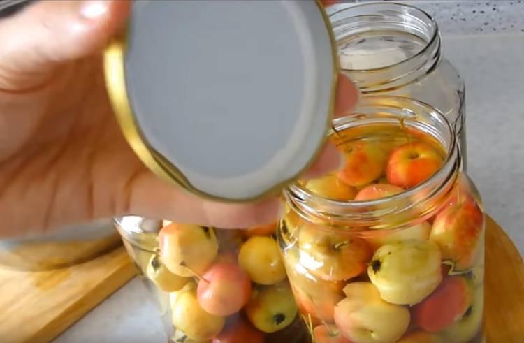 компот из яблок в литровых банках
