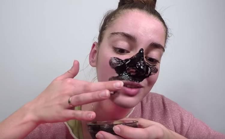 маска с углем активированным и желатином