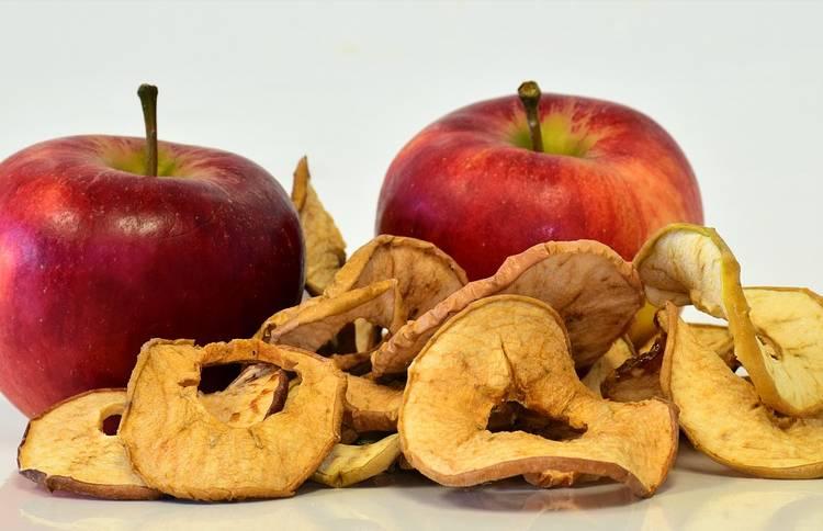 яблоки сушеные в микроволновке пластинками