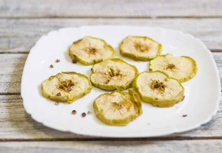 яблоки сушеные в микроволновке
