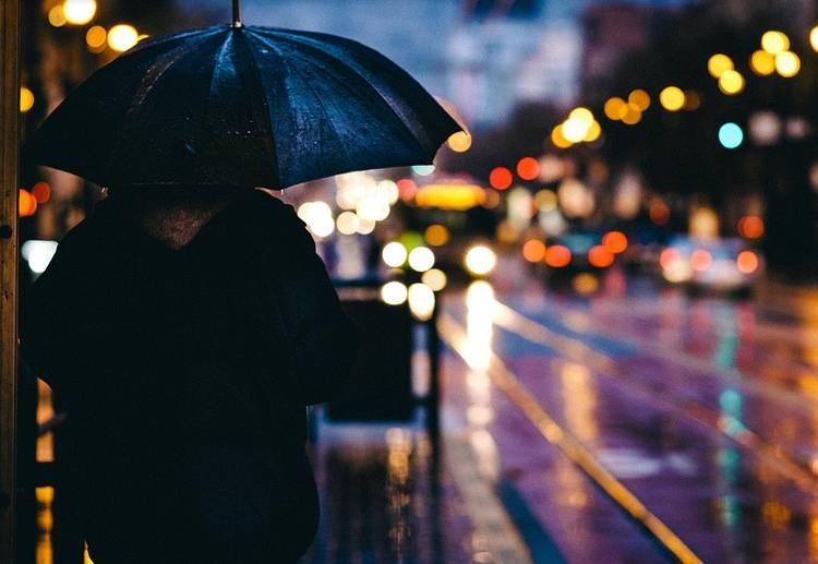 дождь зонт улица