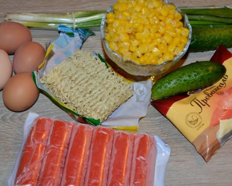 классический крабовый салат без риса