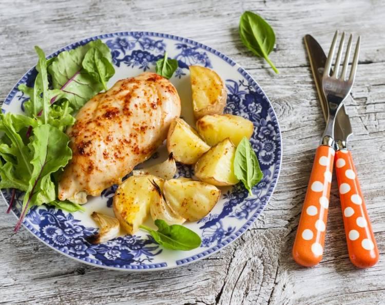 Картошка с куриным филе в духовке