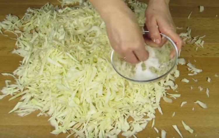квашеная капуста с солью