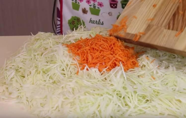 морковь на терке крупной