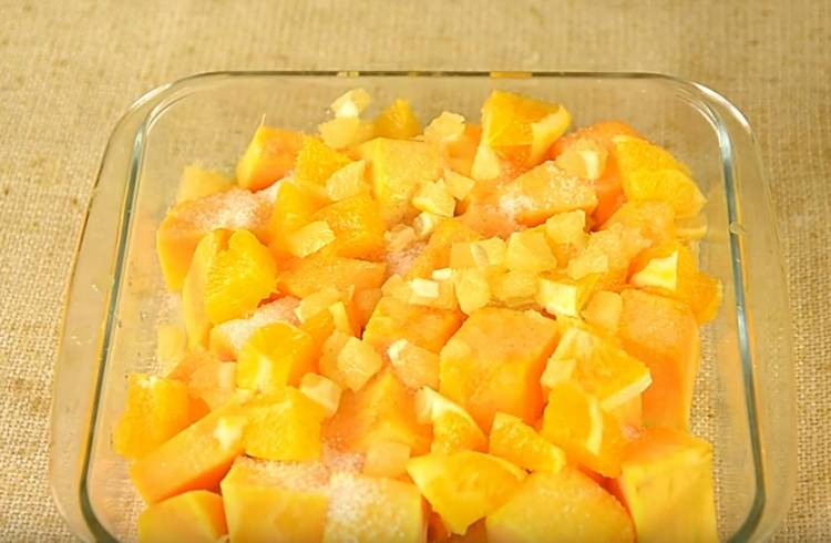 тыква с апельсином и лимоном