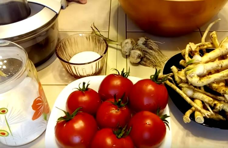 хрен помидоры чеснок