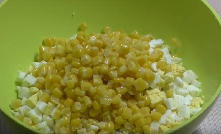 яйца кукуруза консервированная