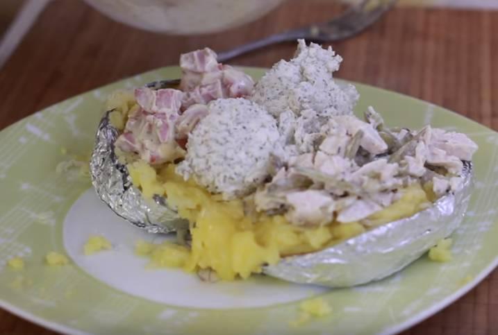 картофель в духовке в фольге крошка картошка
