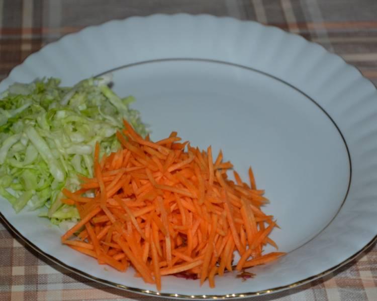 Салат Козел в огороде с мясом и чипсами