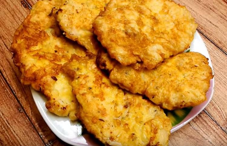 отбивные из куриного филе в кляре на сковороде