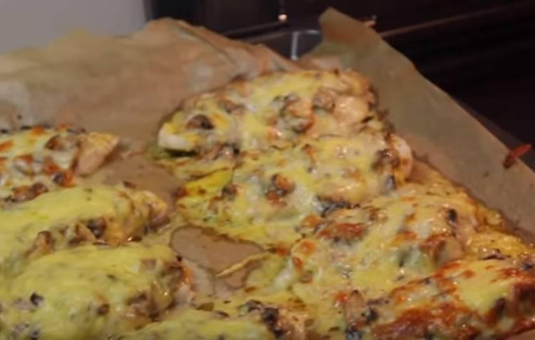 отбивные с грибами и сыром в духовке