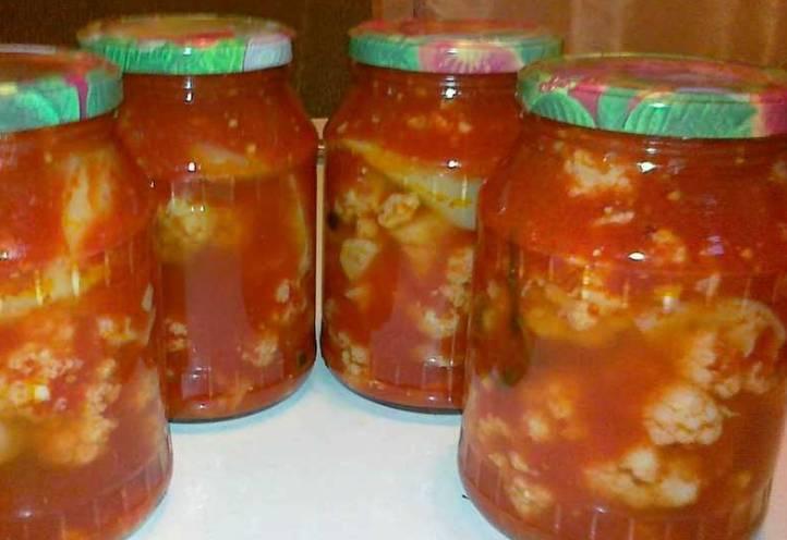 салат из цветной капусты с томатной пастой