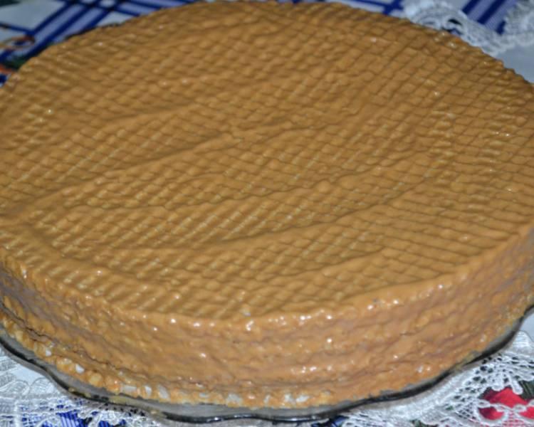вафельный торт с кремом