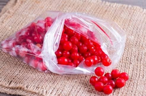 ягоды калины замороженные