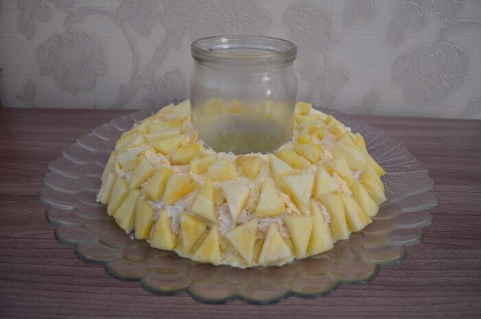 Гранатовый браслет с ананасом слоеный