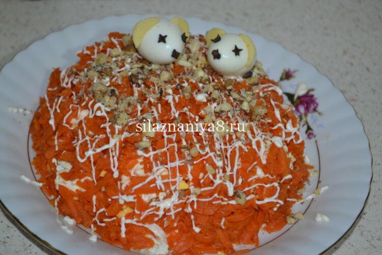 салат с консервированной печенью трески