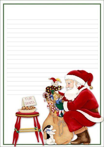 открытка санта клаусу шаблон техника