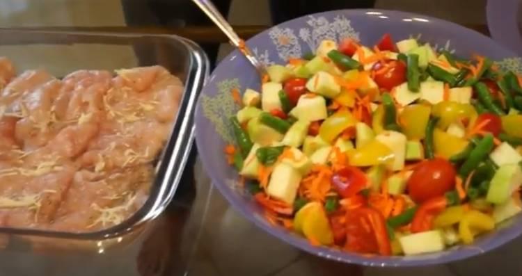 куриное филе овощи
