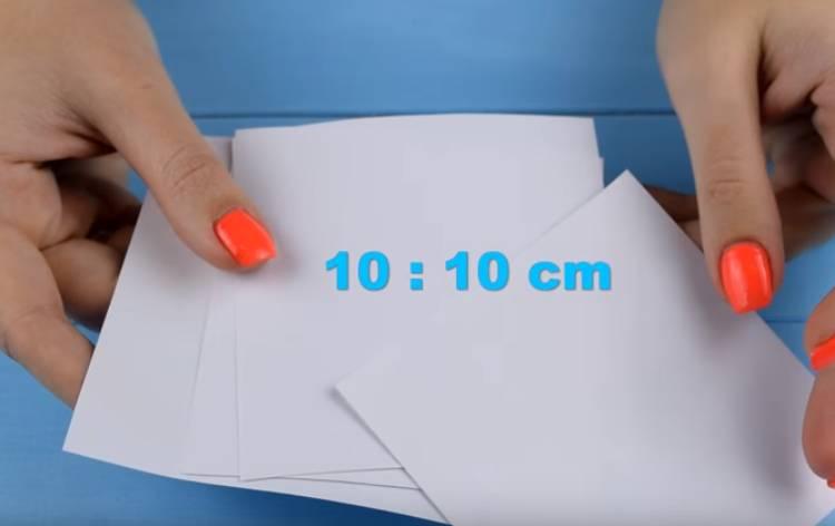 снежинка из бумаги 3 D своими руками