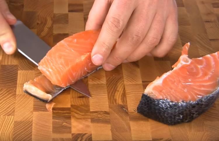 как засолить красную рыбу семгу