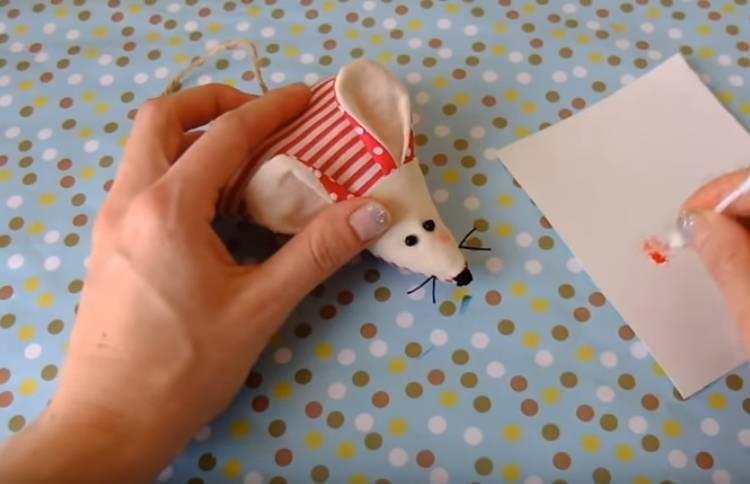 мышка из ткани