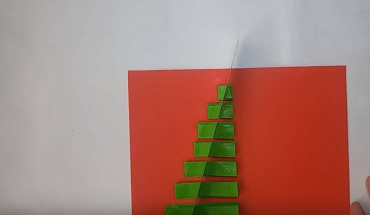 открытка елка из бумаги
