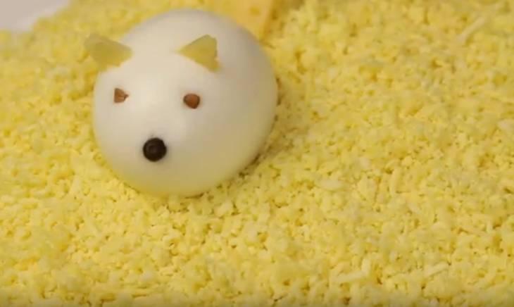 Салат мышата на сыре