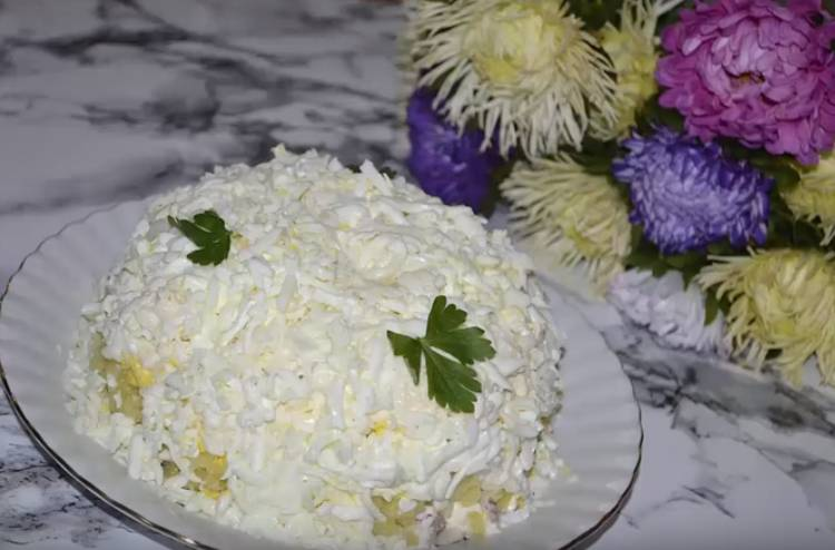 салат невеста