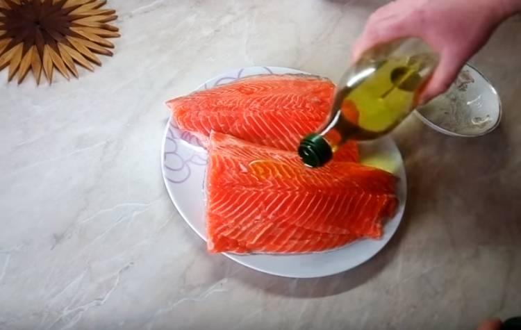 семга сухим способом с солью и сахаром