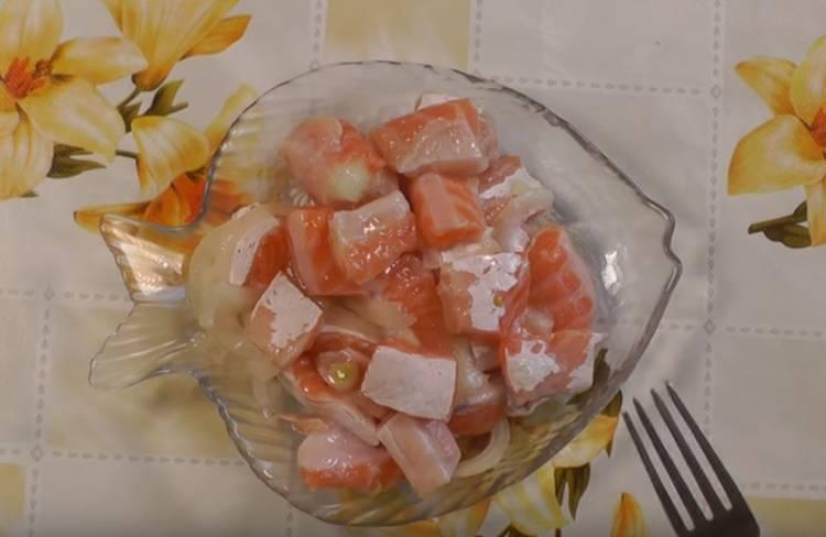 соленые брюшки семги